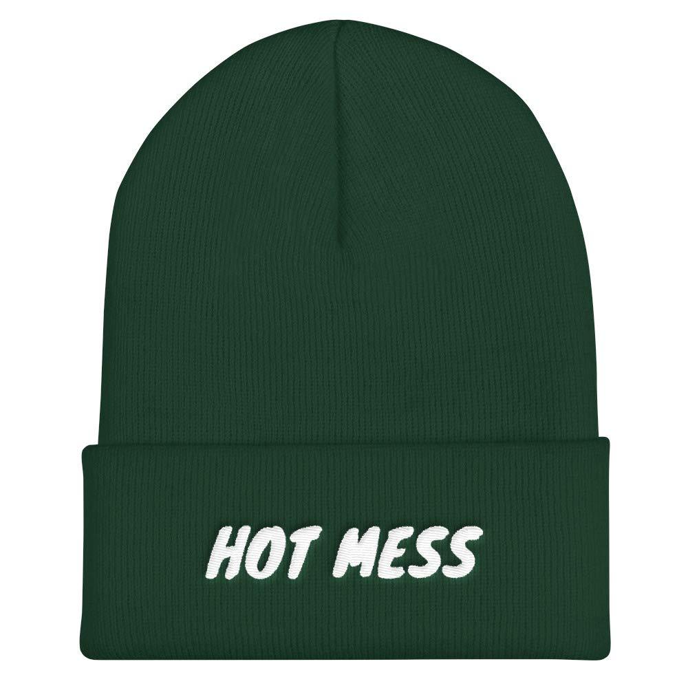 Hot Mess Cuffed Beanie