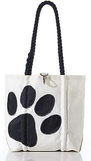 product image for Sea Bags Recycled Sail Cloth Paw Print Handbag