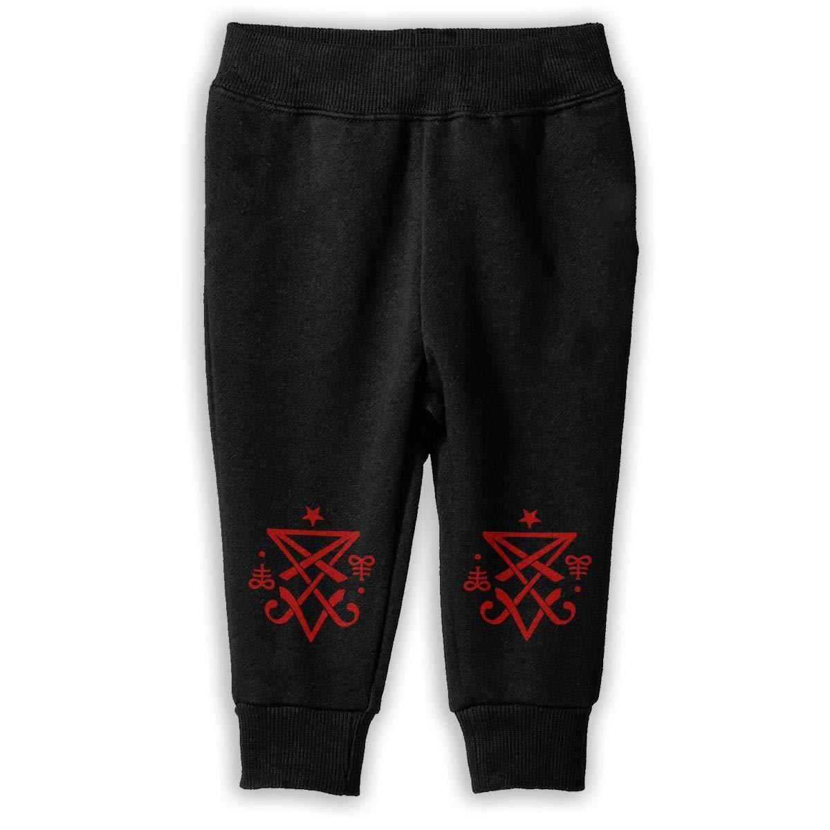 Cool-custom Printed Occult Sigil of Lucifer Satanic Child Boys Girls Unisex Fashion Sweatpants