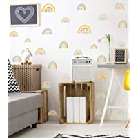 Colorful Rainbow Wall Decal, Attractive Watercolor Rainbows Removable Vinyl Sticker for Kids Room Nursery Classroom…