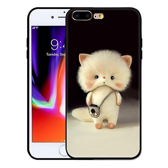 half off 2583e 9fe0f iPhone 7 plus Case, iPhone 8 plus Case, Plusme Cute Kawaii Soft Cartoon  Animal Pattern Design Silicone TPU Full Protective Cover for Apple iPhone  7/ 8 ...