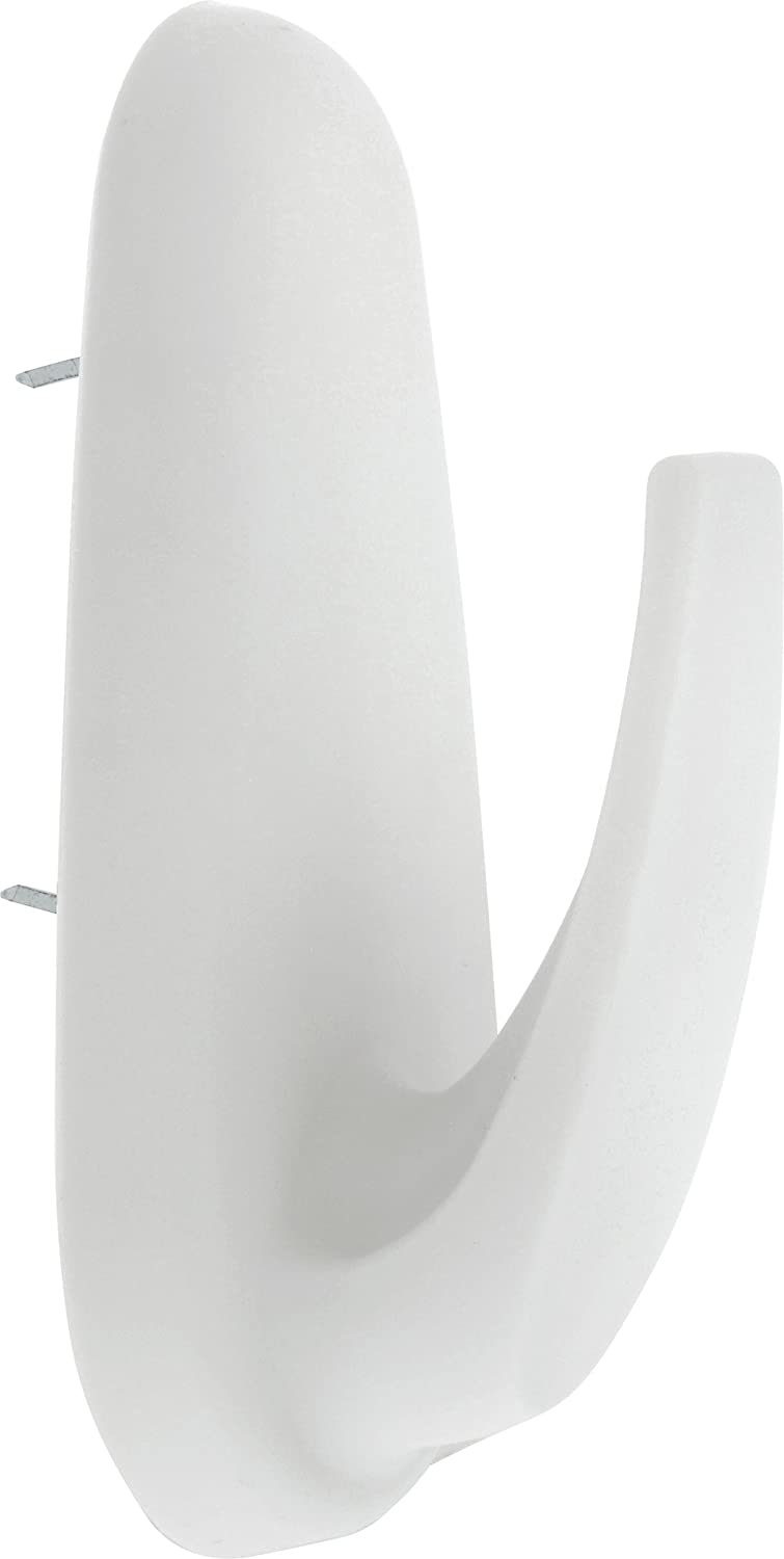 HIGH & MIGHTY 515815 2 Piece Oval Hook, 20 lb, White