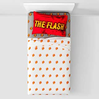 The Flash Twin Comforter and 3 Piece Sheet Set with Throw and Pillow Franco