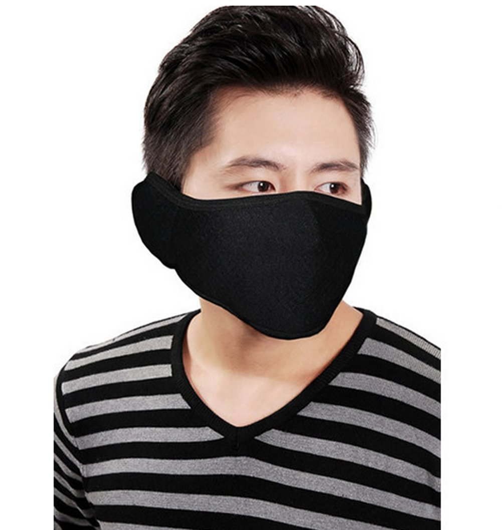 Unisex Black Warm Half Cover Face Mask Protects From Wind Dust Ski Winter Balaclava Ideal for Motorcycle Cycling Running Hiking ASTRQLE