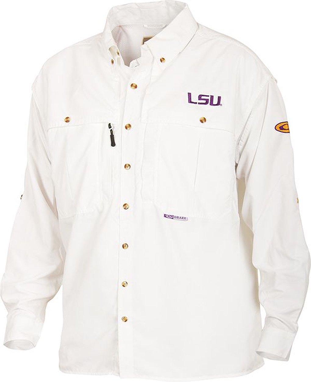 Amazon.com: Drake Men's LSU Long Sleeve Wingshooter Shirt: Sports & Outdoors