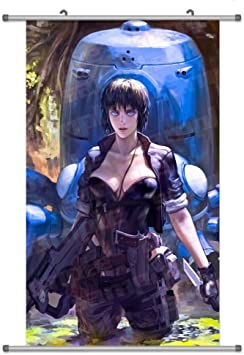 A Wide Variety Of Ghost In The Shell Anime Characters Wall Scroll Hanging Decor Kusanagi Motoko 6 Amazon Com