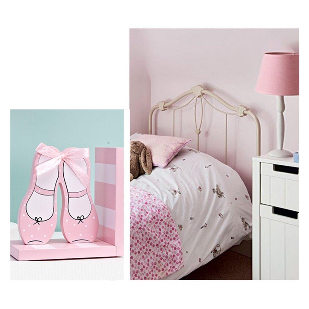 Color : Pink Kinderzimmerm/öbel B/ücherst/ützen B/ücherregal Kinderzimmer Schreibtisch Buchst/ütze B/ücherregal Mini B/ücherregal h/ölzerne M/ädchen Buchst/ütze Dekoration B/ücherregale