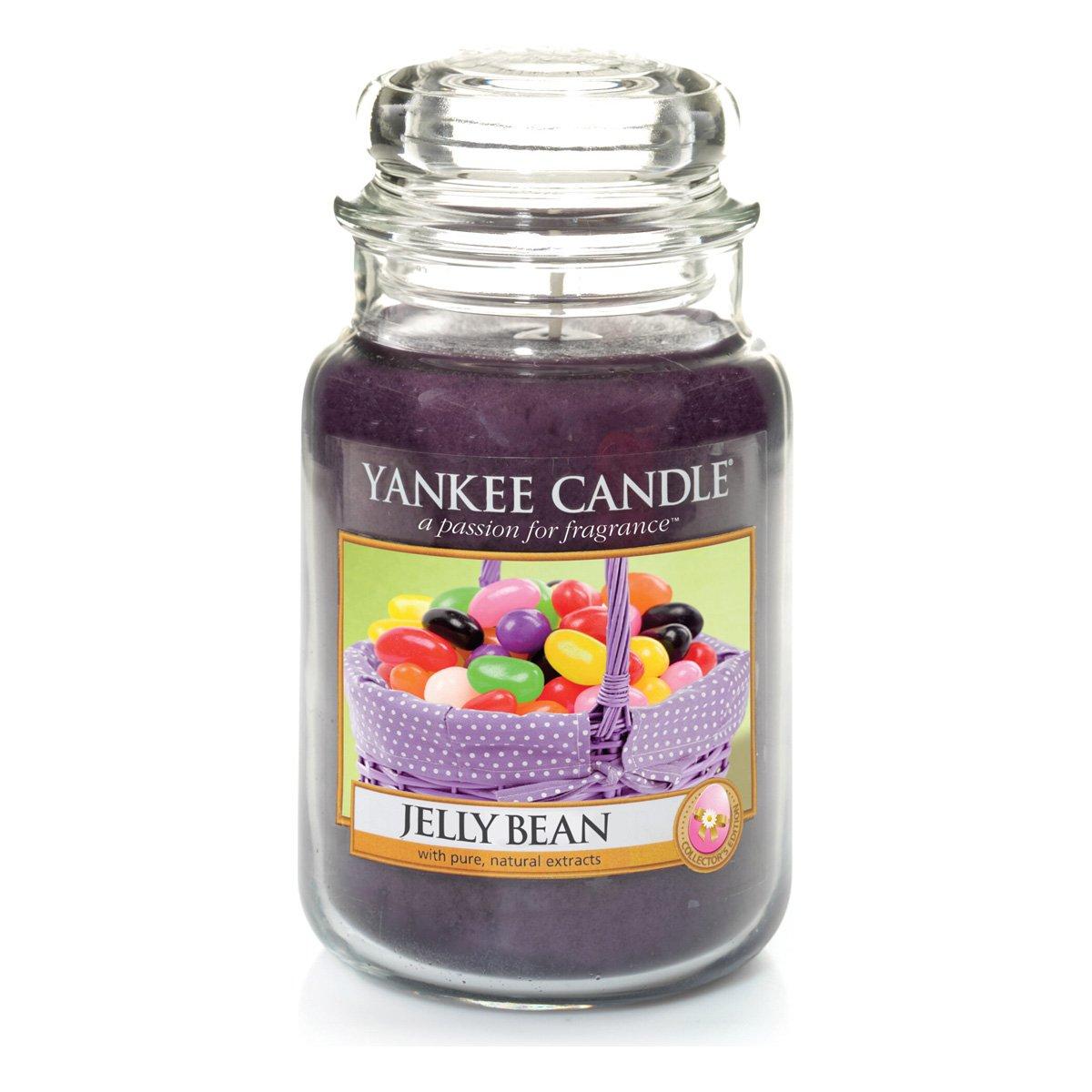 Yankee Candle 1328759E Jelly Bean Bougie Grande Jarre Verre Noir 10 x 9,8 x 14,7 cm