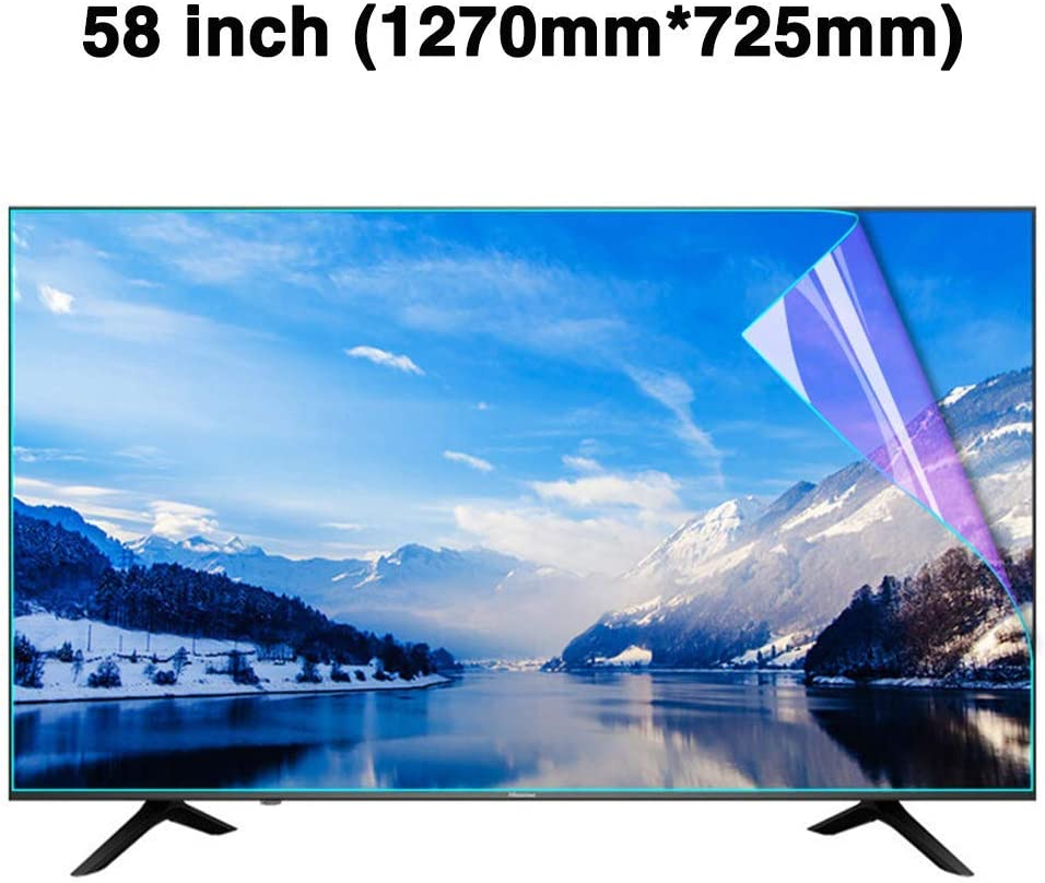 Anti-Blue Light Ultra-Clear Protector Film Non-Glare Anti-Scratch Eye Protection for LCD LED OLED /& QLED 4K HDTV,58inch CUUYQ 58 Inches TV Screen Protector