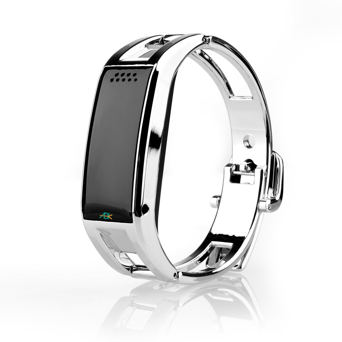 ABK Luxury Stainless Steel Bluetooth Sync Smart Watch Phone Bracelet For IOS Android iPhone 4 4S 5 5S Sumsung S3 S4 Note2 Note3 Note 4 (Silver)