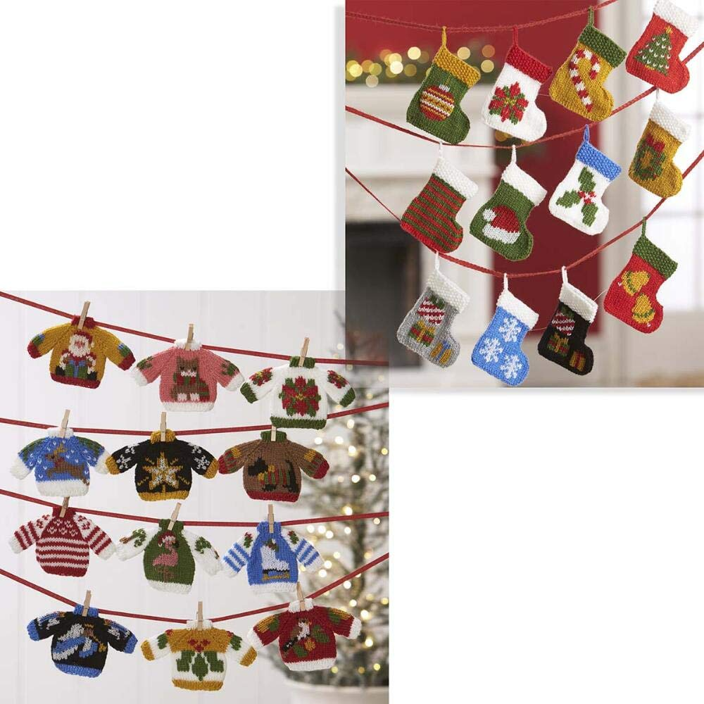 Herrschners® Ugly Sweater and Sock Knit Ornaments Yarn Kit