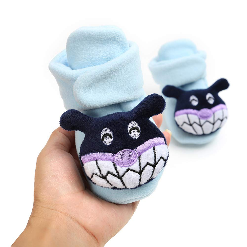 Baby Cute Cartoon Cotton Shoes Keep Warm Anti-Slip Soft Sole First Walkers Shoes