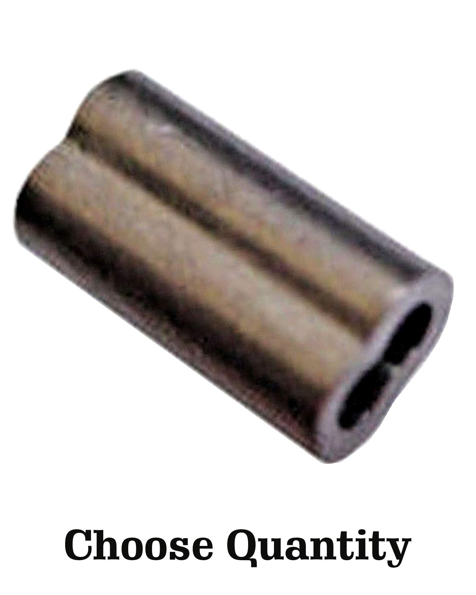 Nickel Plated Copper Swage Sleeves - Crimping Loop Sleeve for 3/64'' Diameter Wire Rope and Cable - Cable Swage Sleeves - Double Barrel Crimp Sleeves - Nickel Plated Copper Sleeves for Wire (1000)