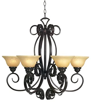San dimas collection six light chandelier amazon san dimas collection six light chandelier aloadofball Choice Image