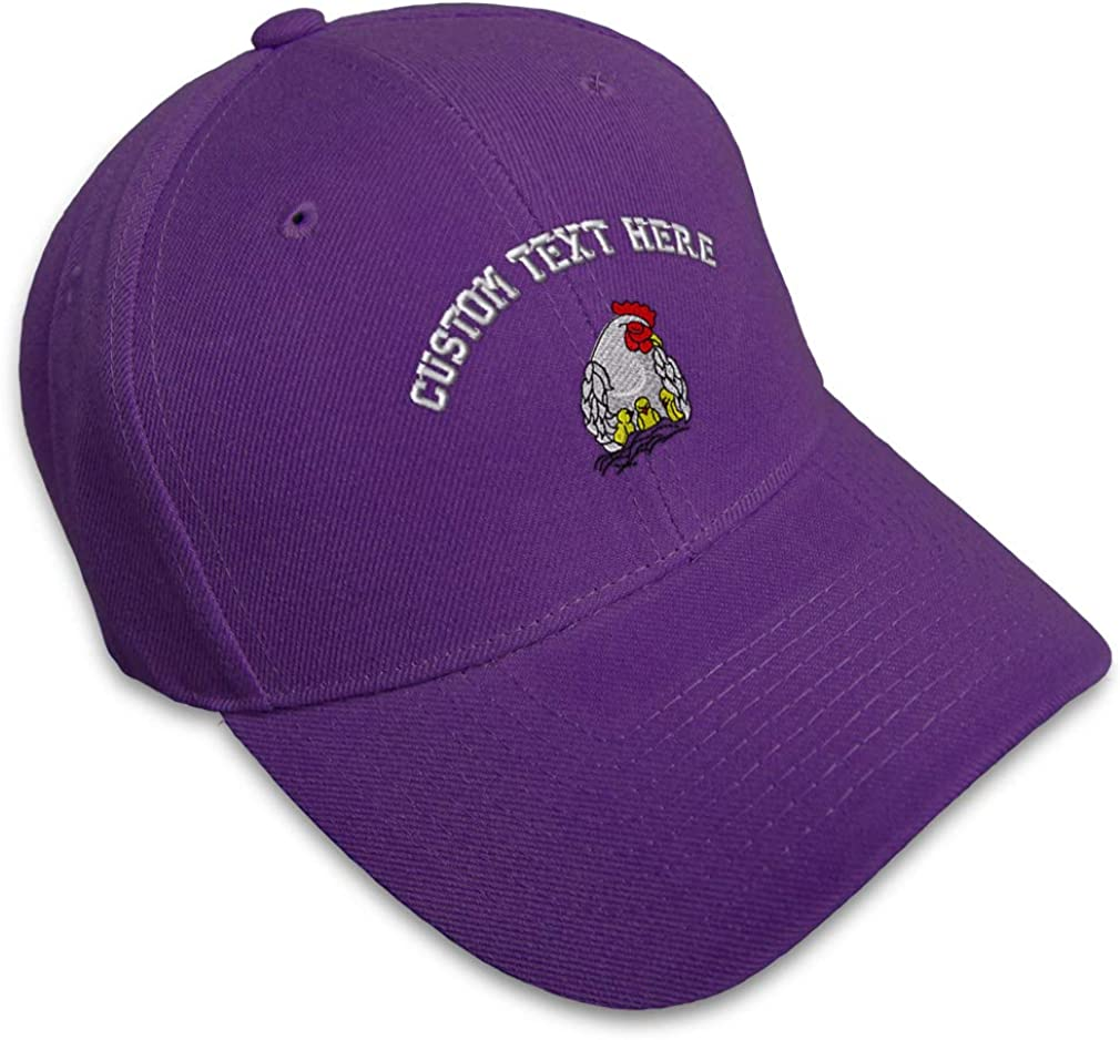 Custom Baseball Cap Chicken and Chicks Embroidery Dad Hats for Men /& Women