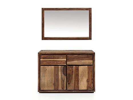 Woodkings Waschtisch Mit Spiegel Blackdale Massivholz