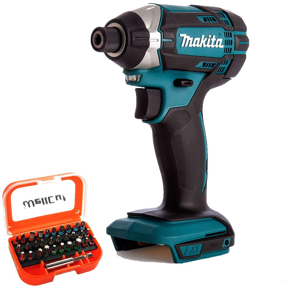 Makita DTD152Z 18V Li-ion Cordless Impact Driver with 31 Piece Screwdriver Bit Set