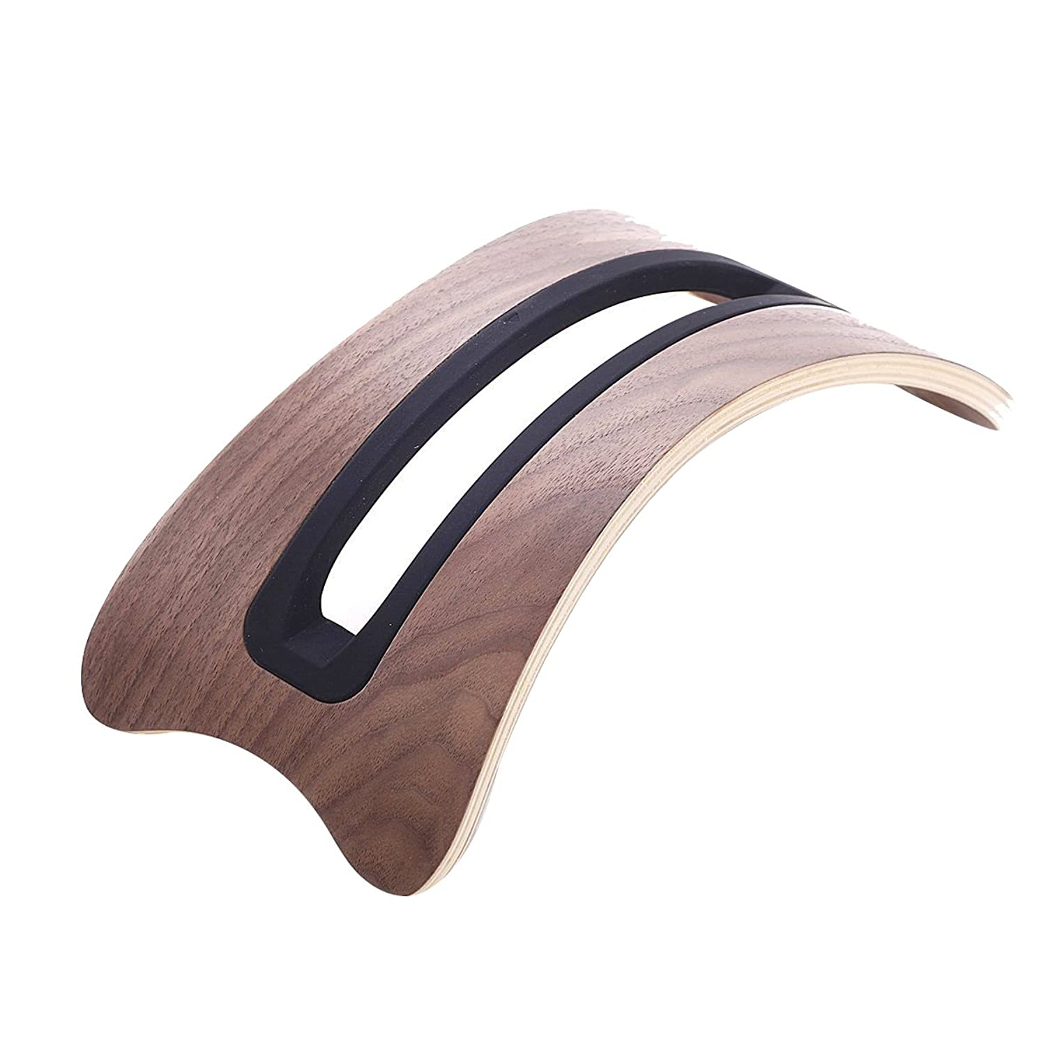 Arc Shaped Walnut Wood Laptop Stand Dock Holder For Apple Laptop Mac Book Air Pro by Ytq