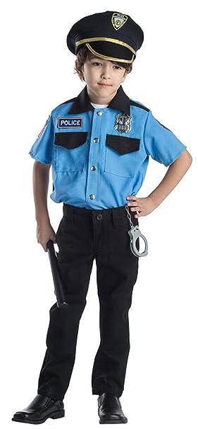Amazon.com: Disfraz de jefe de policía para niños, talla ...