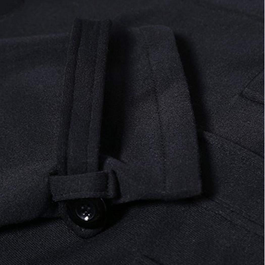 pioleUK Cappotto Solido con Fibbia in Pelle con Fibbia in Pelle con Cappuccio Esterna da Donna alla Moda Cappotti