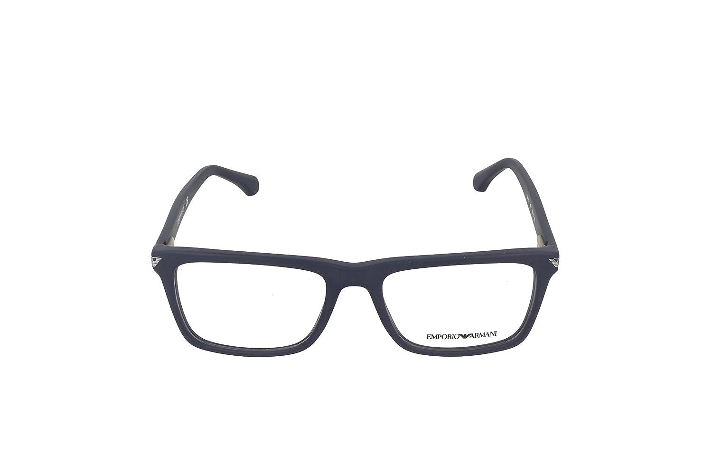 f8564bc00cd Armani EA3071 Eyeglass Frames 5452-55 - Matte Blue EA3071-5452-55 at Amazon  Men s Clothing store