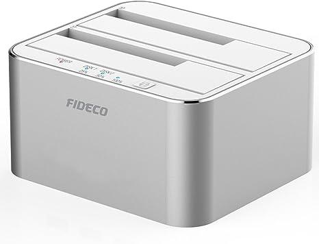 Estación de acoplamiento para disco duro, FIDECO aluminio USB 3.0 ...