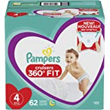 Pampers Diapers Size 4 - Cruisers 360˚ Fit Disposable Baby Diapers with Stretchy Waistband, 62 Count Super Pack