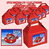 DWP-SP678-45RD Little Einsteins Party Favor Boxes with Thank you Decals Stickers Loots Red Birthday Shower 12 PIECES GREAT SELLER …