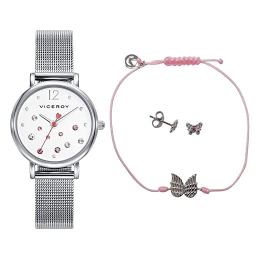 Reloj Viceroy Niña Pack 401074-05 + Pendientes y Pulsera: Amazon.es: Relojes
