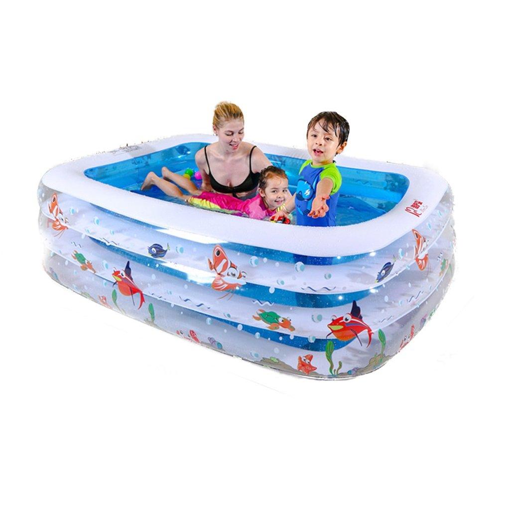 Children Cartoon Swimming Pool Inflatable Folding Bathtub, Portable Tub Bath Thicker Insulation Home SPA Foldable Travel Air Shower Basin Seat Baths (Size : L)
