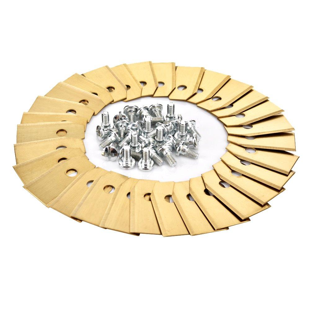Multifunzione cacciavite OIZEN Titan 30 Coltelli in Titanio 0,75mm 30 Titan Acciaio Inossidabile Lama di Ricambio Lame + 30 Vite