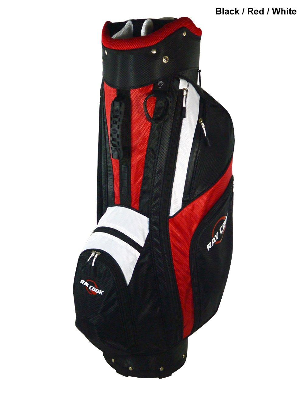 Ray Cook golf-ポラリスカートバッグ B00PG5OWKI  ブラック/レッド/ホワイト