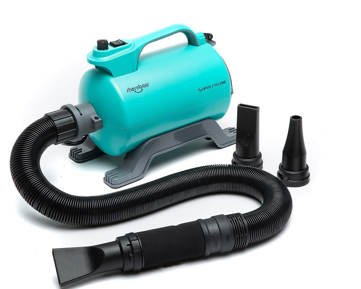 shernbao High Velocity Professional Dog Pet Grooming Hair Force Dryer Blower 5.0HP (Super Cyclone)