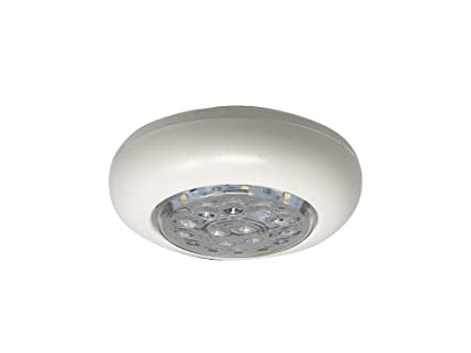 Five Oceans 12v LED Round Stainless Dome Interior Ceiling Light-boat Caravan Rv Boating