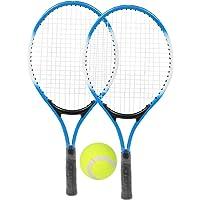 ROSEBEAR Ijzerlegering Tennisrackets Set Voor Kinderen Beginner Oefenracket Met Bal en Draagtas (Groen)