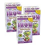 Vitamin Friends Kids Iron Gummies - Vegan, Organic, Kosher, Allergen Free Iron Gummy, Supports Healthy Iron Levels without Nausea or Constipation - 3 Pack
