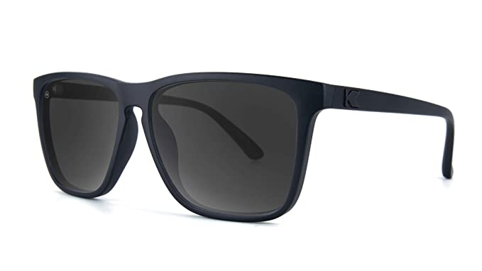 Knockaround Gafas de sol polarizadas de carriles Fast Negro mate en negro de humo: Amazon.es: Ropa y accesorios