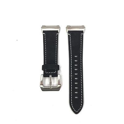 Komise Luxe Scrub Motif bande de cuir bracelet tricoté Edge Bracelet de montre pour Fitbit ionique
