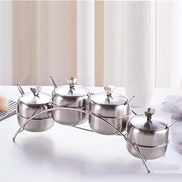 WEII Utensilios de Cocina Sartenes Set de Acero Inoxidable Cruet de Cocina,4 Tipos de puen,Un tamaño: Amazon.es: Deportes y aire libre