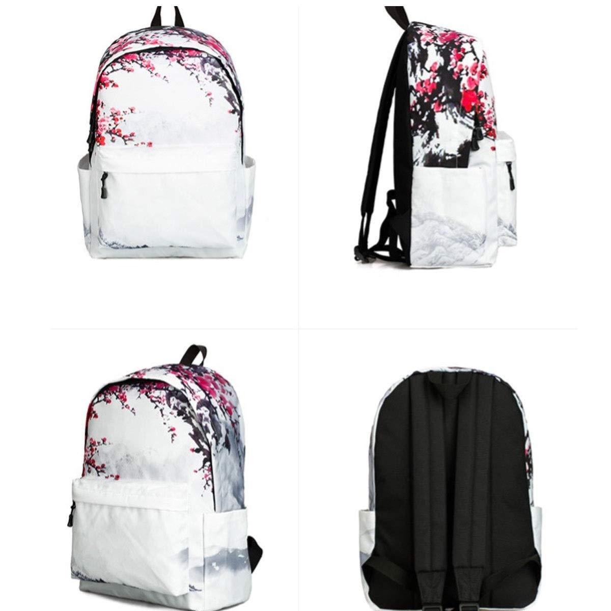 ZHONGYUE Cute Laptop Backpack for Kids Canvas Backpack Girls Daypack School Bag Fabric