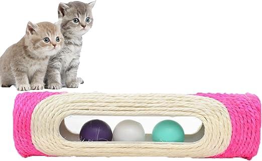 Chytaii Juguete rascador para Gatos, Gatos, Centro de Actividades, Juguetes, Tubo con Bolas de rodamiento, 29 x 8 cm, Color al Azar: Amazon.es: Productos para mascotas