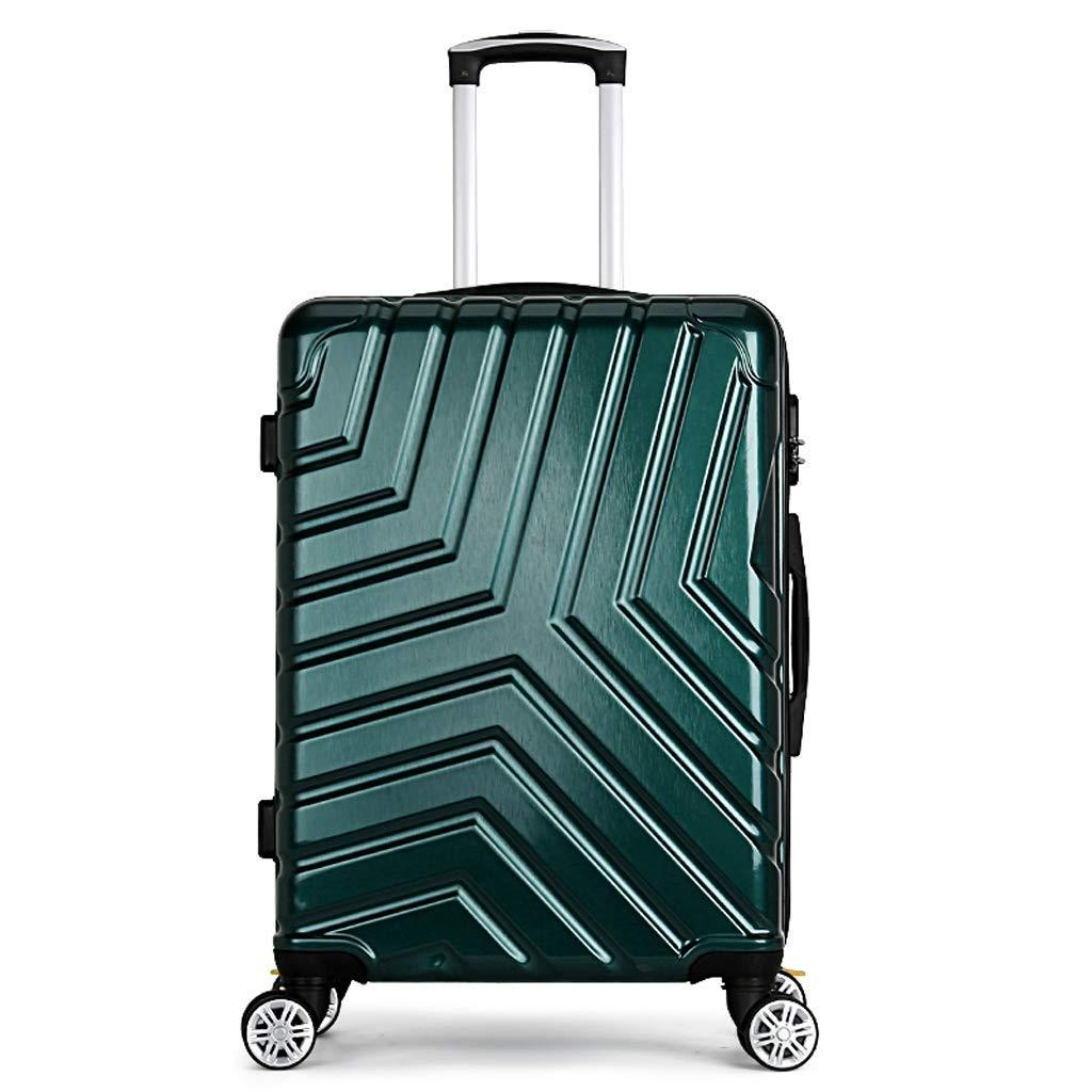 36-dianyejiancai ジッパースーツケース持ち込みパスワードボックス旅行手荷物ユニバーサルホイール、ABSハードシェル軽量搭乗シャーシー (Color : 緑, サイズ : 28inch) B07S4JR9Z9 緑 28inch