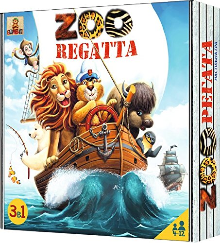 ZOORegatta - Award Winning Adventure Family Board Game for Kids 4 and up - Best Action and Educational Childrens Board Games for Families by Bombat Game