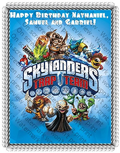 Skylander's Trap Team Edible Frosting Image 1/4 sheet Cake Topper