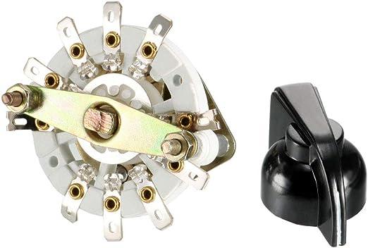 36 ° 5 a 125 V 2 polos Conmutador giratorio 5 posición