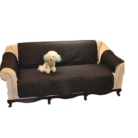 UEETEK Protector funda para sofá impermeable sofá cubierta para gato perro (negro)