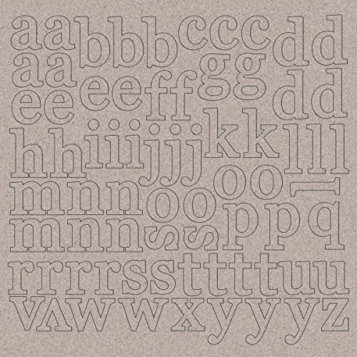 Chipboard Letters - Kaisercraft Chipboard Alphabet Lowercase Letters, 12 x 12-Inch