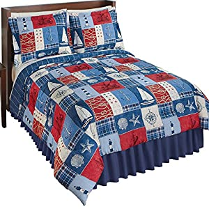 61Ag9%2BOzD5L._SS300_ Nautical Bedding Sets & Nautical Bedspreads