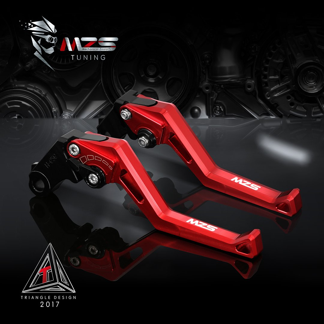 MZS Short Levers Adjustment Brake Clutch CNC for Honda CBR 600RR CBR600RR 2007-2019// CBR 1000RR CBR1000RR Fireblade SP 2008-2019 Red