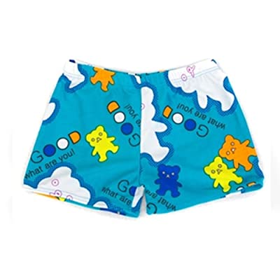 Boy's Swimwear Sport Shorts Beach Shorts Swim Trunks Bear ,Light Blue